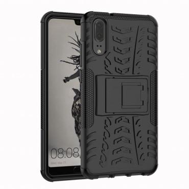 """Hybridní gelový TPU obal """"Tough"""" pro Huawei P20 - černý"""