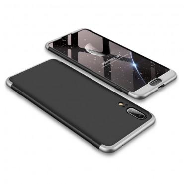 """Elegantní celotělový obal """"Sleek"""" pro Huawei P20 - černý a šedý"""