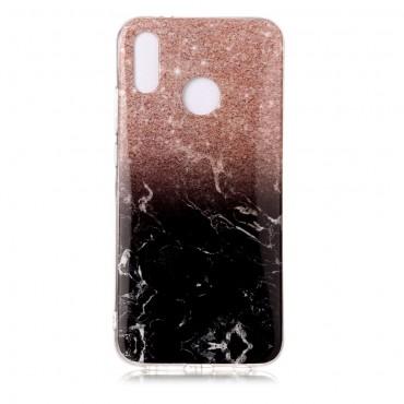 """Módní kryt """"Marble"""" pro Huawei P20 Lite - černé"""