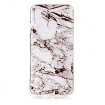 """Módní obal """"Marble"""" pro Huawei P20 Lite - bílý"""