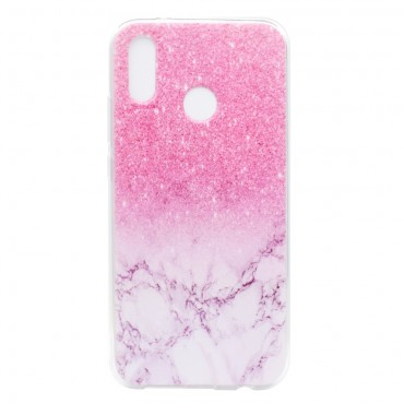 "Módní obal ""Marble"" pro Huawei P20 Lite - růžový"