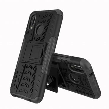 """Hybridní kryt TPU gel """"Tough"""" pro Huawei P20 Lite - černé"""
