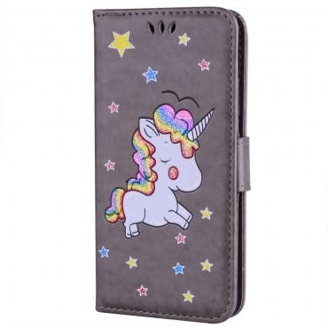 """Módní pouzdro """"Unicorn"""" pro Huawei P20 Lite - šedý"""