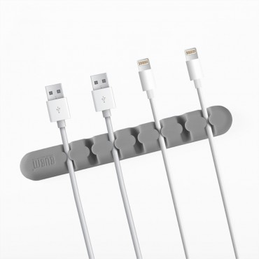 """Silikonový držák a organizátor kabelů """"Bumb"""" - šedý"""