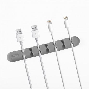 "Silikonový držák a organizér kabelů ""Bumb"" - šedý"