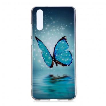"""Kryt svítící ve tmě """"Water Butterfly"""" pro Huawei P20 Pro"""