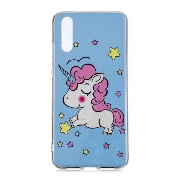 """Kryt svítící ve tmě """"Unicorn"""" pro Huawei P20 Pro"""