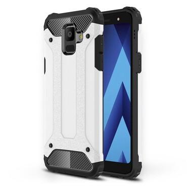 """Robustní obal """"Rock"""" pro Samsung Galaxy A6 2018 - bílý"""