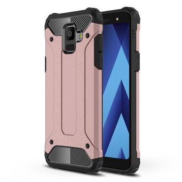 """Robustní obal """"Rock"""" pro Samsung Galaxy A6 2018 - růžový"""