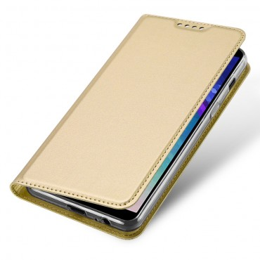 """Módní kryt z umělé kůže """"Skin"""" pro Samsung Galaxy A6 2018 - zlaté barvy"""