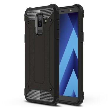 """Robustní obal """"Rock"""" pro Samsung Galaxy A6 Plus 2018 - černý"""