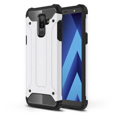 """Robustní obal """"Rock"""" pro Samsung Galaxy A6 Plus 2018 - bílý"""