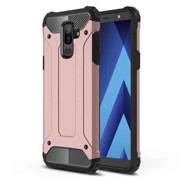 """Robustní obal """"Rock"""" pro Samsung Galaxy A6 Plus 2018 - růžový"""
