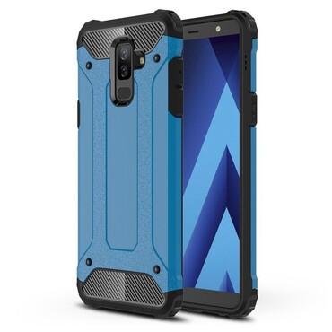 """Robustní obal """"Rock"""" pro Samsung Galaxy A6 Plus 2018 - modrý"""