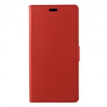 """Elegantní kryt """"Litchi"""" pro Samsung Galaxy A6 Plus 2018 - červený"""