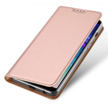 """Módní kryt z umělé kůže """"Skin"""" pro Samsung Galaxy A6 Plus 2018 - růžový"""