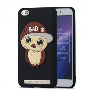 "Kryt TPU gel ""Bad Owl"" pro Xiaomi Redmi 5A - černý"
