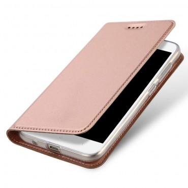 """Módní kryt z umělé kůže """"Skin"""" pro Xiaomi Redmi 5A - růžový"""