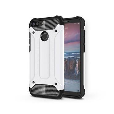 """Robustní obal """"Rock"""" pro Huawei Honor 9 Lite - bílý"""