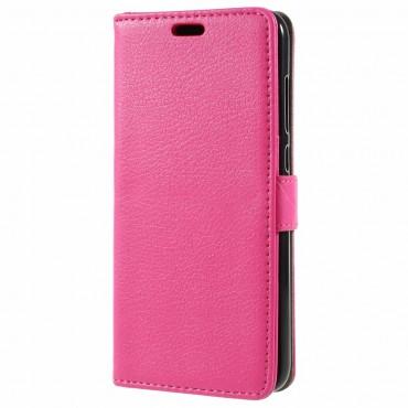 "Elegantní pouzdro ""Litchi"" pro Huawei Honor 9 Lite - růžové"