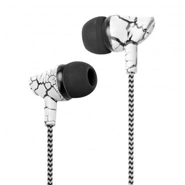 """Sluchátka do uší """"Marble Tone"""" - bílá"""