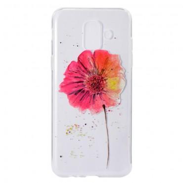 "Tenký TPU gelový obal ""In Bloom"" pro Samsung Galaxy A6 2018"