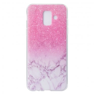 "Tenký kryt TPU gel ""Marble"" pro Samsung Galaxy A6 2018 - růžové"