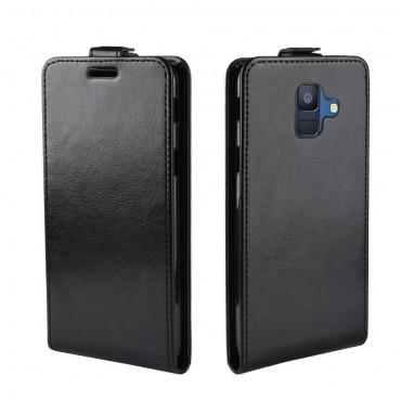 Módní flipový kryt pro Samsung Galaxy A6 2018 - černý