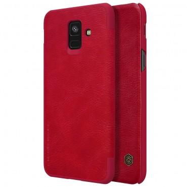 """Elegantní pouzdro """"Qin"""" pro Samsung Galaxy A6 2018 - červené"""