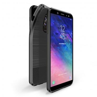 """TPU gelový obal """"Mojo"""" pro Samsung Galaxy A6 Plus 2018 - černý"""