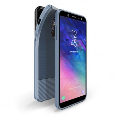 "Kryt TPU gel ""Mojo"" pro Samsung Galaxy A6 Plus 2018 - modrý"