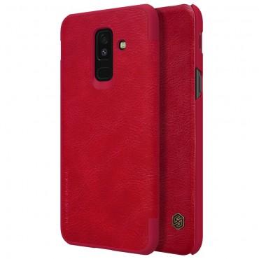"""Elegantní pouzdro """"Qin"""" pro Samsung Galaxy A6 Plus 2018 - červené"""