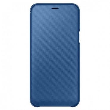 """Originální kryt """"Wallet Cover"""" pro Samsung Galaxy A6 2018 - modrý"""