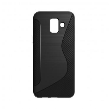 """TPU gelový obal """"S-Line"""" Samsung Galaxy A6 2018 - černý"""