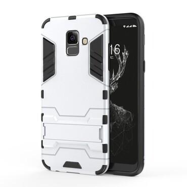 """Robustní kryt """"Impact X"""" pro Samsung Galaxy A6 2018 - ve stříbrné barvě"""