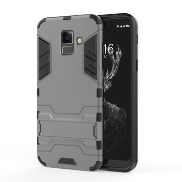 """Robustní kryt """"Impact X"""" pro Samsung Galaxy A6 Plus 2018 - šedý"""