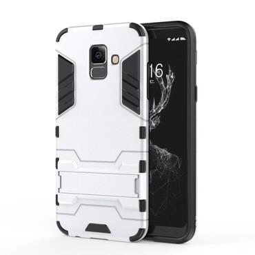 """Robustní kryt """"Impact X"""" pro Samsung Galaxy A6 Plus 2018 - ve stříbrné barvě"""