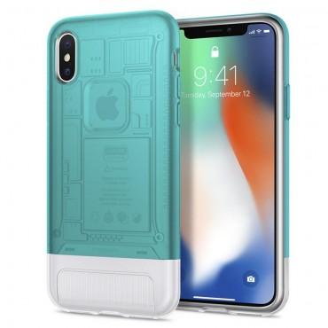 "Obal Spigen ""Classic C1"" pro iPhone X - modrý"
