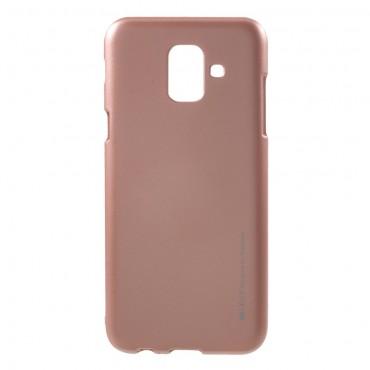 Kryt TPU gel Goospery iJelly Case pro Samsung Galaxy A6 2018 - růžový