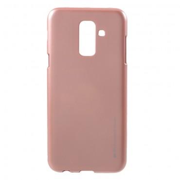 Kryt TPU gel Goospery iJelly Case pro Samsung Galaxy A6 Plus 2018 - růžový