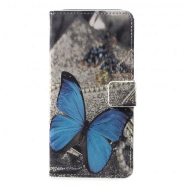 """Módní pouzdro """"Blue Butterfly"""" pro Samsung Galaxy A6 Plus 2018"""