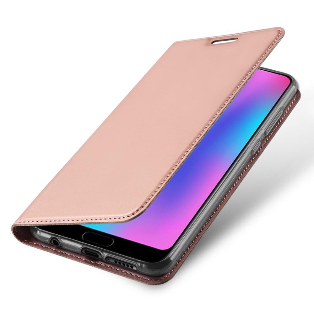 """Módní pouzdro """"Skin"""" pro Huawei Honor 10 z umělé kůže - růžové"""