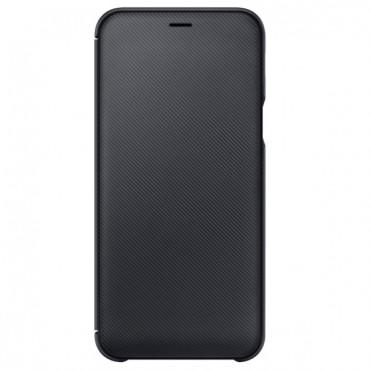 """Originální kryt """"Wallet Cover"""" pro Samsung Galaxy A6 2018 - černý"""