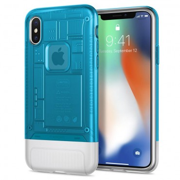 """Kryt Spigen """"Classic C1"""" pro iPhone X - blueberry"""