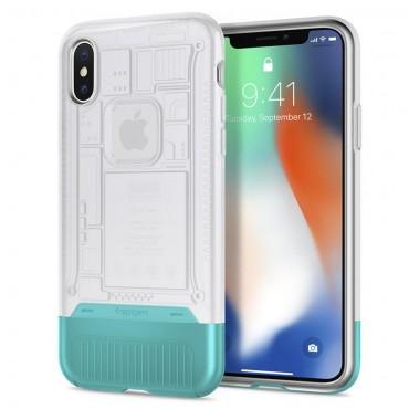 """Obal Spigen """"Classic C1"""" pro iPhone X - sněhový"""
