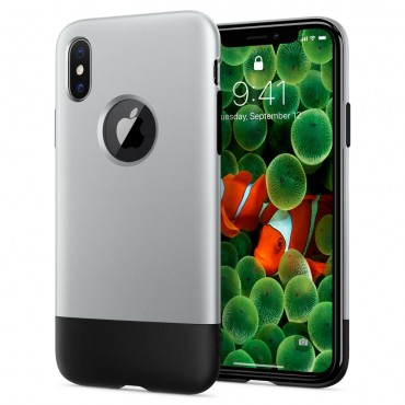 "Kryt Spigen ""Classic One"" pro iPhone X - aluminum gray"
