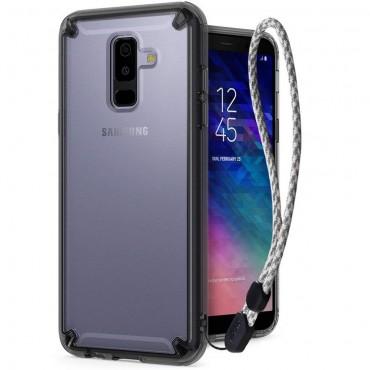 """Obal Ringke """"Fusion"""" pro Samsung Galaxy A6 2018 - kouřově černý"""