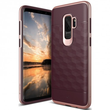 Kryt Caseology Parallax Series pro Samsung Galaxy S9 Plus - burgundy