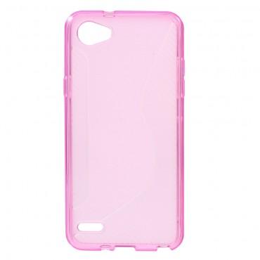 """Kryt TPU gel """"S-Line"""" pro LG Q6 - růžové"""