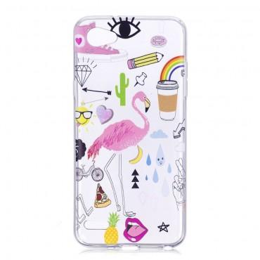 """Módní kryt TPU gel """"Flamingo"""" pro LG Q6"""